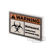 Product shot Printed Tile 2x3 Warning Biohazard Sign