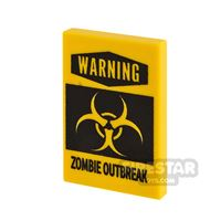 Product shot Printed Tile 2x3 Zombie Outbreak