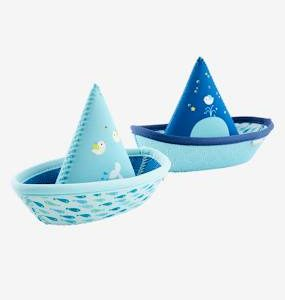 2 Bath-Time Toy Boats