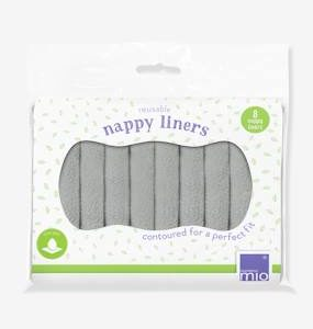 8 Reusable Nappy Liners in Microfleece by BAMBINO MIO multi