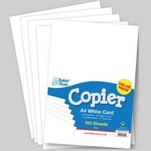 A4 White Copier Card - 100 sheets of white A4 160gsm printer card. FSC certified.