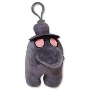 Product shot Among Us Clip On Crewmate Plush: Plague Doctor