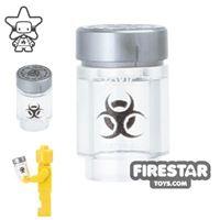 Product shot Custom Design - Bio Chem Canister - Trans Clear