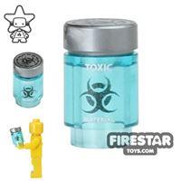 Product shot Custom Design - Bio Chem Canister - Trans Light Blue
