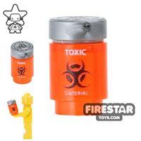 Product shot Custom Design - Bio Chem Canister - Trans Neon Orange