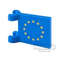 Product shot Printed Flag with 2 Holders 2x2 EU Flag