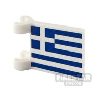 Product shot Printed Flag with 2 Holders 2x2 Greek Flag