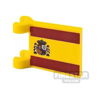Product shot Printed Flag with 2 Holders 2x2 Spanish Flag