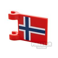 Product shot Printed Flag with 2 Holders 2x3 Norweigan Flag