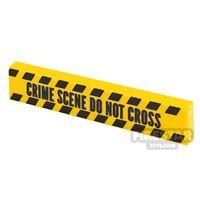 Product shot Printed Tile 1x4 Yellow Tape Crime Scene