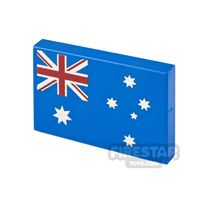 Product shot Printed Tile 2x3 Australian Flag