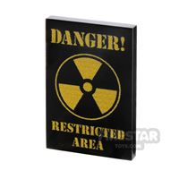 Product shot Printed Tile 2x3 Danger Restricted Area Sign