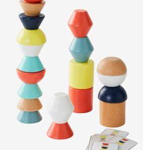 Balancing Wooden Blocks and Colours Game multi
